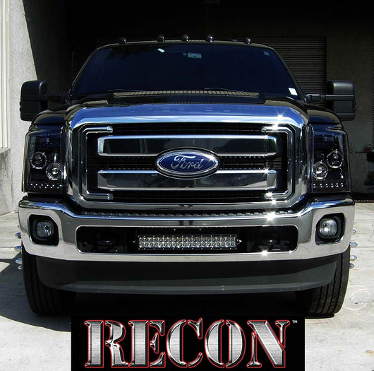 2011 2016 Super Duty Recon Smoked Projector Headlights Led